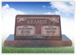 A great way to remember your parents: with a double headstone